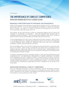 Conflict Competence White Paper First Page