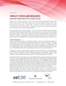 Conflict Stress and Resilience White Paper First Page