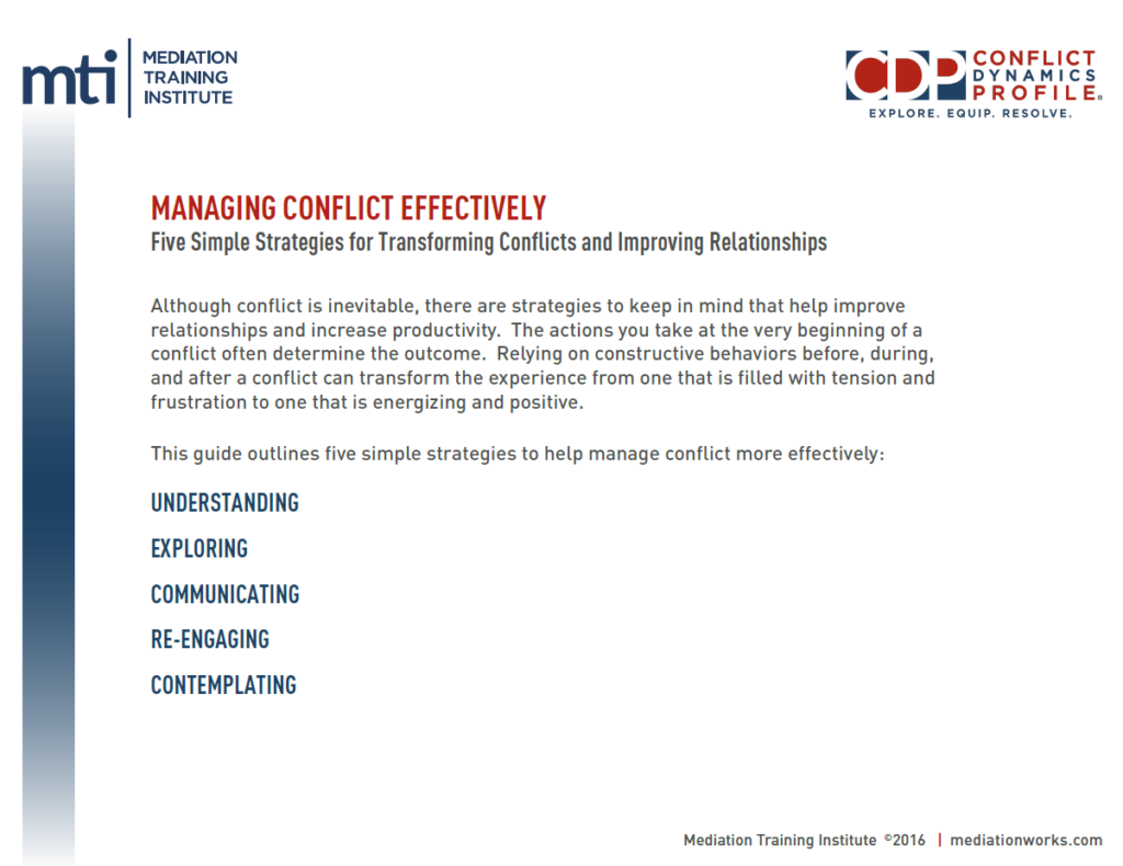 How to Resolve Conflict Effectively recommendations